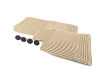 Genuine BMW All-Weather Mat, Front Beige - 51472153726 - F10