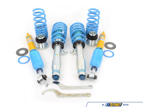 "T#215352 - 48-244091 - Bilstein B16 PSS10 Coil Over Suspension - F80 M3, F82 M4, F87 M2 - The B16 PSS10 coilovers offer a stiffer spring rate than stock and a lower ride height for less bodyroll and better handling. These are among the easiest coil over kits on the market - no special mounts required (works with stock mounts and sway bar links), larger adjustment knob allows for easy shock damping changes, and coil over spanner wrenches included for easy height changes. Bilstein backs up their technology with a limited lifetime warranty. TUV approved for fitment, safety, and quality!Bilstein's monotube shockdampers in the PSS10 offer 10 precise settings for compression and rebound. A new setting is just a click away, allowing you to set a ride and handling combination that works for your setting. Instead of offering too many shock settings that you're never going to use, Bilstein has chosen ten optimal damping curves from a smooth street setting (P10) to an ultra-stiff track-only setup (P1). Shock changes are made from an easy-to-use over-sized adjuster knob.Ride height adjustmentsare done from perches that ride on each shock body, which are zinc coated for excellent wear and corrosion resistance. You can set the ride height between 0.5 to 1.3 inches lower than stock ride height. Springs are progressively rated so their initial compression rating is quite soft and then becomes stiffer as the spring compresses. These are stiffer than most coil over kit manufacturers and the results of Bilstein's extensive testing on the German Nurgburgring and Autobahn.The fitment of theseis just like a standard shock and spring package. The front struts and rear shocks are compatible with the stock strut and shock mounts. You can re-use your own or choose a mount with additional features. Because the Bilstein design keeps the sway bar tab in the original location, you can re-use the stock sway bar links. Using the stock mounts keeps the cost and complexity down and allows for TUV certification. You can also be assured of the stock mount's quiet and long-lasting performance. The assembly of the front strut is the same as a the factory strut. In the rear, ride height is made by an adjustable spring perch that sits under the rear spring. Install instructions and diagrams included.If you're looking for a supremely capable and high quality suspension, then look no further than the Bilstein PSS10. It combines all of the best German engineering with real-world development, and a lifetime warranty.Fitment note: this system works only on cars not equipped with the factory EDC electronically adjustable shocks.Featuring:Largest available piston diameter for greater sensitivity and precise control.Patented digressive piston head design and deflective valving instantly reacts to changing road conditions.10-way adjustable dampening knobs that ""click"" from soft to hard with no tools or jacking required.Monotube design dissipates heat more effectively than a twin tube shock for cooler, more efficient operation and longer life.Weather resistant coating to resist oxidization, and ensure long life.Lighter weight reduces wear and tear on suspension components.Wrenches to adjust front and rear ride height included!This Bilstein PSS10 Coilover kit fits the following BMWs:2015+ F80 BMW M32015+ F82 BMW M42016+ F87 BMW M2Not for cars with EDC - Bilstein - BMW"