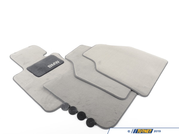 T#24814 - 82110147527 - Genuine BMW Floormat E-65Il Grey - 82110147527 - Genuine BMW -