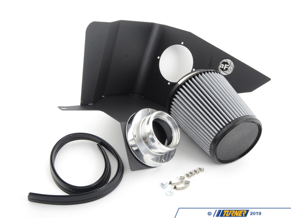 "T#2634 - 51-10601 - aFe Magnum FORCE Stage-1 Pro DRY S Cold Air Intake System - E39 525i/528i - AFE Summer Rebate Form""Oil-Free"" ProDry S FilterThis intake kit replaces your restrictive factory air box. It features a 3-angle aluminum velocity stack adapter, 1.6mm powder-coated steel heat shield, trim sealed to seal out hot engine air, and a custom aFe brand cotton filter.This version has an oil-free filter media for less maintenance. For the best flowing filter, with the best performance gain, we always recommend the standard aFe ""Pro5R "" filter (which has a blue pre-oiled filter media), but this oil-free filter flows only slightly less than the blue Pro5R style aFe filter, and requires no re-oiling after cleaning the filter.By removing your stock intake air box, you are removing the most restrictive portion of your intake system, increasing both horse power and torque, improving acceleration as well as throttle response.For the maximum benefit in performance, we recommend upgrading your engine software with the Shark Injector (Click here for more info on the Shark Injector performance software.)This aFe Intake kit fits the following BMWs:E39 5 series: BMW 525i 528i 1997-2003Clickhere for installation instructions. - AFE - BMW"