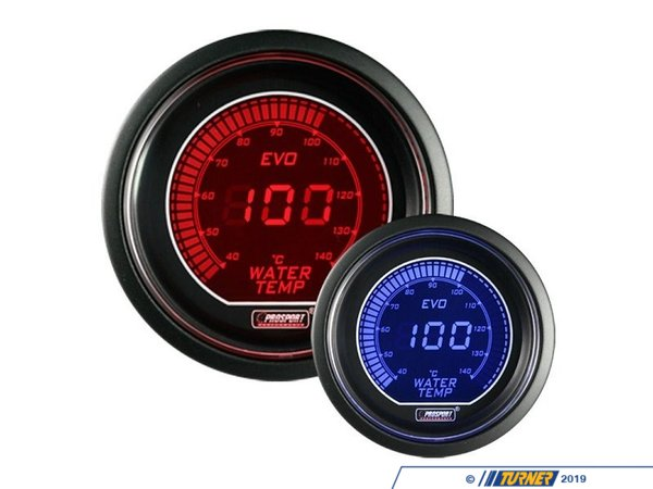 T#389633 - 216EVOWT.F - EVO Series Digital Water Temperature Gauge - 80-280F - Prosport Performance - BMW MINI