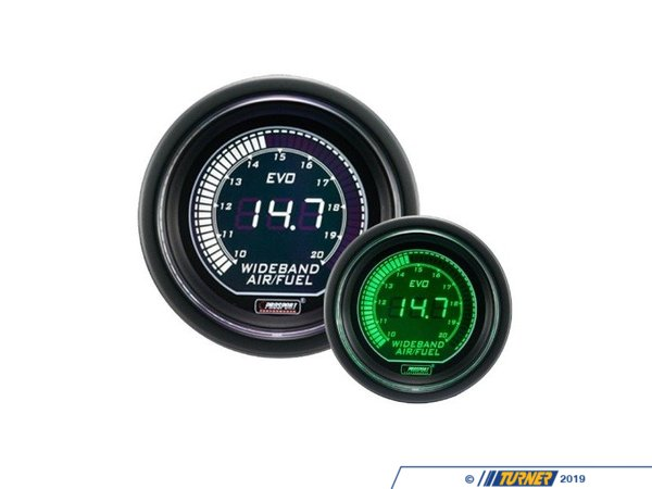 T#389623 - 216EVOWGAFRWB4.9 - EVO Series Digital Wideband Air Fuel Gauge Kit - 10.0:1 To 20.0:1 AFR - Prosport Performance - BMW MINI