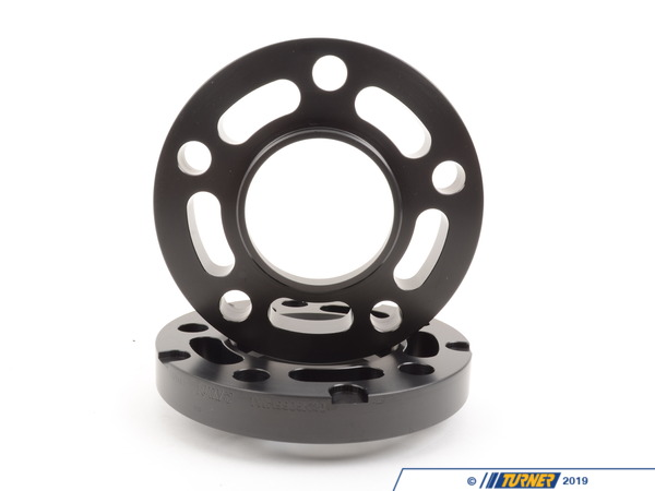 T#304124 - TWH9905K20BLACK - BLACK E39 20MM WHEEL ADAPTER/SPACER SET to fit E36/E46 Wheels to E39 5-series - Converts E39 74.0 hub to 72.5MM - requires longer bolts - Turner Motorsport -