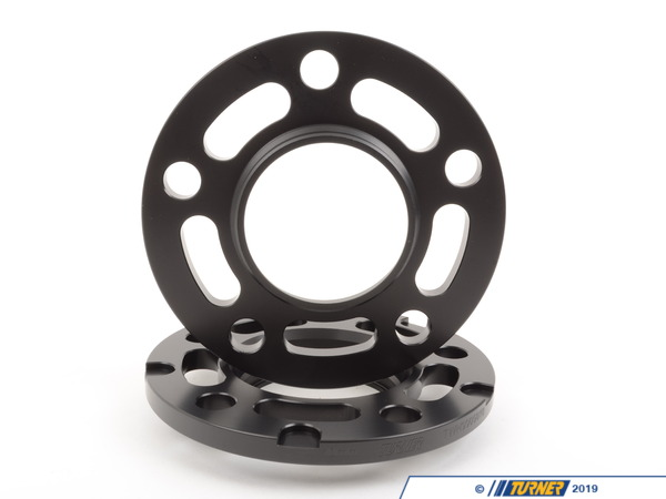 T#304114 - TWH9905010BLACK - BLACK 10MM 5/120 TMS SPACERS WITH HUBCENTRIC LIP (PAIR) FITS ALL 5 LUG BMWS EXCEPT E39 - requires longer bolts - Turner Motorsport -