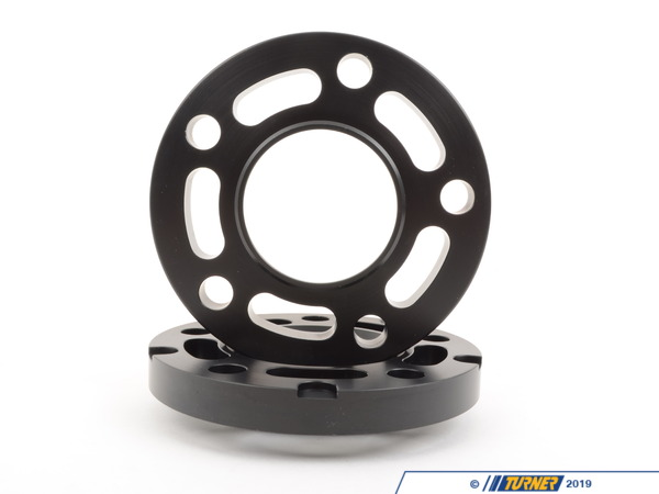 T#304123 - TWH9905K18BLACK - BLACK E39 17.5MM WHEEL ADAPTER/SPACER SET to fit E36/E46 Wheels to E39 5-series - Converts E39 74.0 hub to 72.5MM - requires longer bolts - Turner Motorsport -