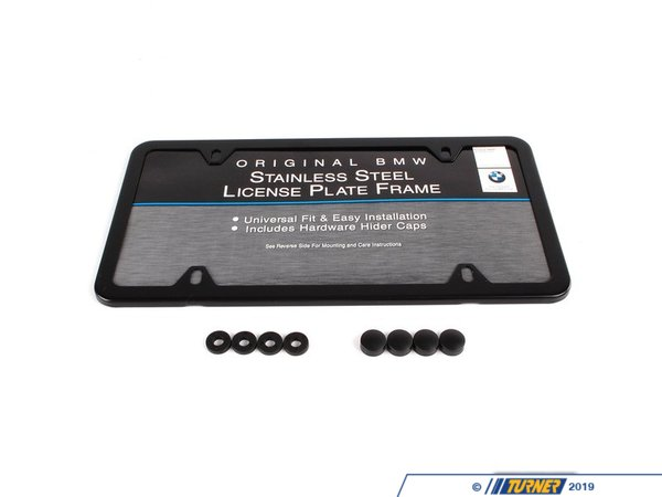 T#25717 - 82120010399 - Genuine BMW License Plate Frame - 82120010399 - Black/Slim - Genuine BMW -