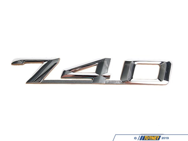 "T#8878 - 51148139836 - Genuine BMW Emblem Adhered Rear ""740"" - 51148139836 - E38 - Genuine BMW -"