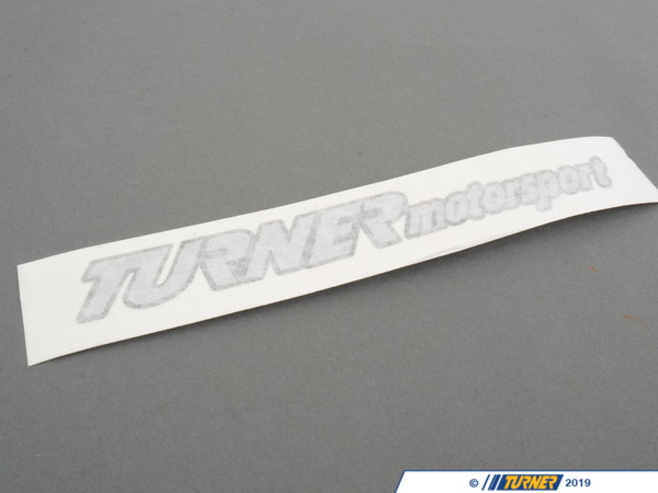"T#16581 - 149-100-2 - Turner Motorsport Die-Cut Stickers - 1"" x 7"" (pair) - Turner Motorsport - BMW"