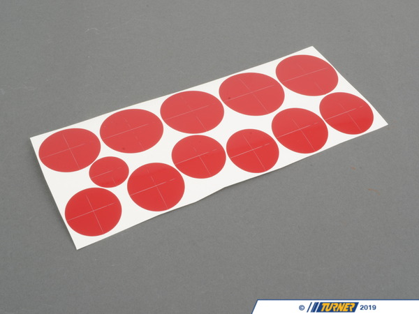 T#302186 - RD370 - ROUNDEL DECAL SHEET- IMOLA RED - Turner Motorsport -