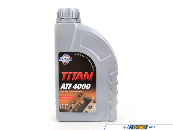 "T#1180 - 83220403674 - Automatic Transmission Fluid - ETL-7045E - 1 Liter - This Fuchs Titan 4000 Automatic Transmission Fluid - ATF - is the equivalent to Texaco ETL-7045E.  It is designed to work on BMWs with ""Yellow Tag"" Automatic transmissions. It fits BMW E46 323i 323ci 325xi 328i 328ci 330xi. E39 528i 530i. E83 X3 3.0i. E53 X3 3.0i. Only for cars with ""Yellow Tag"" transmissions.  You MUST check for the Yellow tag on the transmission before ordering. This item fits the following BMWs:1999-3/2000  E46 BMW 323i 323ci 328i 328ci 2001-2005  E46 BMW 325xi 330xi 3/2003-2005  E46 BMW 325i 325ci - Only with M54 engine3/2003-2005  E46 BMW 330i 330ci 2000-3/2001  E39 BMW 528i 525i 530i2004-2006  E83 BMW X3 2.5i X3 3.0i2000-2006  E53 BMW X5 3.0i2000-2002  Z3 BMW Z3 2.5i Z3 3.0i Typically a transmission fluid change requires 6.15 liters for these cars.   - Fuchs - BMW"
