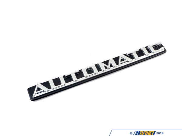 "T#80753 - 51141848265 - Genuine BMW Sign Plate ""automatic"" - 51141848265 - Genuine BMW -"