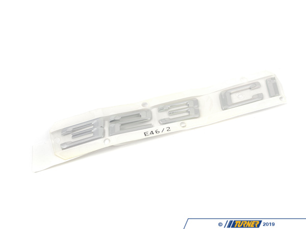 T#81344 - 51148240120 - Genuine BMW Emblem Adhered Rear - 323Ci - 51148240120 - E46 - Genuine BMW -