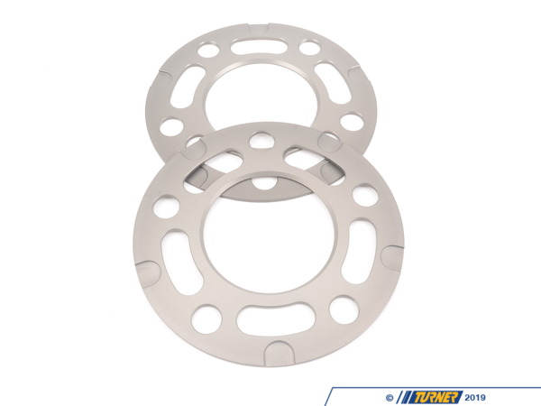 T#212699 - TWH9905004 - Turner BMW 3mm Wheel Spacers (Pair) - Most BMWs (see applications) - 3MM (.12 inch) Wheel Spacer for BMW E24, E28, E30 M3, E31, E32, E34, E36, E38, E46, E60, E63, E82, E83, E87, E90, E91, E92, E93 (E9X), Z3, Z4Wheel spacers are the ideal solution to resolve a number of fitment and aesthetic problems. A spacer fits between the wheel and the hub assembly. The wheel will be pushed further outboard by the thickness of the spacer. Spacers allow you to correct wheel offset issues when the wheel is too 'tucked in' to the bodywork, clear the wheel from contact with the suspension or inner bodywork, clear larger brakes, improve handling and stability by increasing track width, or simply to get the right look and stance. Our wheel spacers are compatible with almost any type of BMW wheel and are a direct fit to the wheel hub (see below for any fitment notes). Longer wheel bolts or wheel studs are required.These latest generation of the Turner Motorsport Wheel Spacers represent a total redesign of the wheel spacer concept - a ground-up, clean sheet design based on our years of BMW service and motorsports. We took everything we have learned from our service technicians, customers, and race team crew and built the spacer to beat all spacers. We've been in the BMW wheel spacer business probably longer than anybody and when it came time to make our own spacers, a basic spacer design just wouldn't do. We had to make a spacer that is light weight (for lower unsprung mass), has a tough and durable coating to last through our New England winters, is easily removed (your mechanic will thank you), and is precisely engineered and manufactured for a proper fit on the hub and in the wheel. You won't find a better engineered wheel spacer on the market!Turner Wheel Spacer Features+ hub-centric design, 1-piece spacer+ precise tolerance fitment thanks to CAD process and CNC mill machine+ aerospace grade aluminum  light weight but very strong with a high resistance to corrosion+ additional military-spec hardcoat for further corrosion resistance+ innovative Quick Release pockets for easy removal (better than a chamfered back edge)+ laser engraved size and part number for easy identification+ stealthy anthracite or black color+ optional extended bolt sets in factory-matching black or bright silver finish (wheel stud kits also available)+ Turner Motorsport track and street tested!+ Made in the USAWheel Spacer Tech & FAQHow To Measure for SpacersWheel Spacer Encyclopedia - everything you wanted to knowSpacer Specsbolt pattern:  5 x 120center bore:  72.6mmhubcentric?  yeswheel pad size:  normalExtended Wheel Bolts  Required for all BMW wheel spacers is a set of longer wheel bolts or wheel studs. Spacers cannot be used with stock bolts. Our extended lug bolts are a very high quality and high grade steel lug bolt (grade 10.9). We offer two finishes to get you just the right look with your wheels - black zinc to maintain a factory BMW appearance or a bright zinc nickel finish to go with polished wheels. Zinc finishes are designed to withstand 700 hours of salt spray testing. 3mm spacer note: a 3mm spacer uses up 3mm of space on the existing hub lip. The wheel will have 3mm less hub surface for a secure fitment. Therefore, wheels that have a bevel around the center bore will not engage the hub lip and may reseult in a vibration.+ Year & Model Applications(click to expand)  2008+  E82 BMW 128i 135 1M1988-1991  E30 BMW M31992-1998  E36 BMW 318i 318is 318ti 318ic 323is 323ic 325i 325is 325ic 328i 328is 328ic M31999-2005  E46 BMW 323i 323ci 325i 325ci 325xi 328i 328ci 330i 330ci 330xi M32006-2011  E90 BMW 325i 325xi 328i 328xi 328i xDrive 330i 330xi 335d 335i 335xi 335i xDrive M3 - Sedan2006-2012  E91 BMW 325xi 328i 328xi 328i xDrive - Wagon2007-2012  E92 BMW 328i 328xi 328i xDrive 335i 335is 335xi 335i xDrive M3 - Coupe2007-2012  E93 BMW 328i 335i M3 - Convertible1976-1981  E12 BMW 528i 530i1982-1988  E28 BMW 524td 528e 533i 535i 535is M51989-1995  E34 BMW 525i 530i 535i 540i M52004-2010  E60 BMW 525i 525xi 530i 530xi 528i 528xi 528i xDrive 535i 535xi 535i xDrive 545i 550i M51982-1989  E24 BMW 633csi 635csi M62004-2010  E63 BMW 645ci 650i M61981-1987  E23 BMW 733i 735i1988-1994  E32 BMW 735i 735il 740i 740il 750il1995-2001  E38 BMW 740i 740il 750il1990-1999  E31 BMW 840i 840ci 850i 850ci 850csi1997-2002  Z3 BMW Z3 1.9 Z3 2.3 Z3 2.5i Z3 2.8 Z3 3.0i M Roadster M Coupe2003-2008  E85 BMW Z4 2.5i Z4 3.0i Z4 3.0si Z4 M Roadster M Coupe2009+  Z4 BMW Z4 sDrive28i Z4 sDrive30i Z4 sDrive35i Z4 sDrive35is - Turner Motorsport -