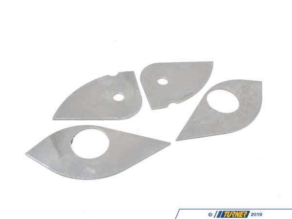 T#631 - TDR4675F99 - E46 Front Subframe Reinforcement Kit - The motor mount area on a subframe is one of those easily-forgotton areas that may be hiding a serious problem. The subframe on the E46 has a gusset ('ear') welded on for the motor mounts. These gussets take the stress of the motor mount as the engine torques (more upgrades = more torque = more stress). Worn motor mounts only transfer more stress to the subframe. Unfortunately, the sheetmetal will fatigue over time even though the gusset is reinforced from the factory. Check for cracks along the welds and an uneven plane from the subframe to the gusset. A total failure of the guesset will shift your engine to the side and forward, taking out many other components along the way and leading to a very costly repair. The next time you replace the motor mounts, oil pan gasket, checking your oil pump nut, or any other time you drop the front subframe, you should install these reinforcements. This kit comes with steel reinforcing plates that are welded to the underside of the guesset as well as plates to close off the bottom of the gusset for extra strength. Instructions included.This item fits the following BMWs:1999-2005  E46 BMW 323i 323ci 325i 325ci 328i 328ci 330i 330ci M3 - Turner Motorsport - BMW