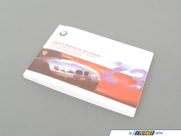 Genuine BMW Genuine BMW Owner's Handbook Z3 E36/7 01410155690 01410155690