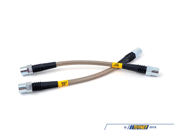 T#2530 - PLBE9XM3 - E9X M3 Stoptech Stainless Steel Brake Lines (2008+ E90/E92 M3) - StopTech - BMW