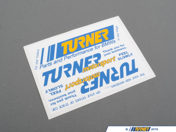 T#1856 - TMS1856 - Turner Motorsport Window Sticker Sheet - Turner Motorsport - BMW