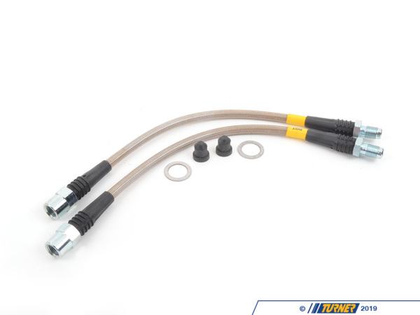 T#300109 - 950.34531 - F22, F3X INCL XI REAR STAINLESS STEEL BRAKE LINES (PAIR) - StopTech -