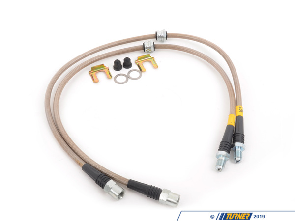 T#300108 - 950.34032 - F22, F3X INCL XI FRONT STAINLESS STEEL BRAKE LINES (PAIR) - StopTech -