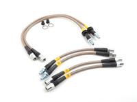 E28 5 Series (incl M5) Stainless Steel Brake Line Set - DOT Approved