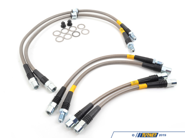 T#12016 - PLBE9X335XI - Stoptech Stainless Steel Brake Lines - E90/E92 335xi,  335i xDrive - StopTech - BMW