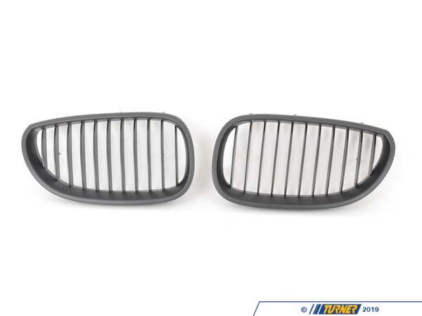 T#1503 - BME-1601-4000 - Black Center Grills - E60 525i, 528i, 530i, 535i, 545i, 550i, M5 (2006-2010) - Turner Motorsport - BMW