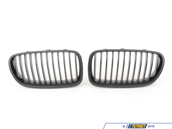 T#5067 - F10-BLACK-GRILLS - Black Center Grills - F10 528i 535i 550i M5 2011-2013 - Turner Motorsport - BMW
