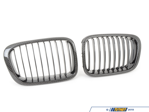 T#5657 - BM-0039 - Carbon Fiber Center Grills - E46 323i 325i 328i 330i 1999-2001 - Turner Motorsport - BMW