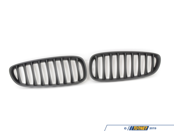 T#20592 - E89G - Black Center Grills - E89 Z4 28i, Z4 3.0i, Z3 35i, Z4 35is -  These direct replacement center grills let you eliminate the stock chrome kidney/center grills, feature perfect fit and beautiful finish, and give a darker more aggressive look to your E89 Z4 2009+. Includes left and right front kidney black grills. Made from impact resistant long life ABS polymer, these grills are precision crafted for a perfect OEM fit. Unlike some competitors blacked-out grills which have a shiny finish that give off a cheap look and feel, these black grills feature a high quality matte finish reminiscent of genuine BMW parts. This item fits the following BMWs:2009+  Z4 BMW Z4 sDrive28i, Z4 sDrive30i Z4 sDrive35i Z4 sDrive35is - ECS - BMW