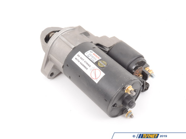 T#1854 - SR0809X - Bosch Starter Motor - E60 E63 E65 X5 - When doing any sort of repair or maintenance there is no replacement for genuine factory parts. Turner Motorsport carries the Genuine BMW brand with pride and has the parts you need to complete your next project with confidence.Bosch is one of the largest OEM producers of Genuine BMW and aftermarket parts in the world, providing parts for almost every major automotive manufacturer. Bosch has likely supplied many of the original electrical (and mechanical) parts for your BMW. Thanks to their exacting assembly process and high level of durability you can expect a long service life from all Bosch products.This genuine Bosch Starter motor fits the following BMWs:2004-2010  E60 5 Series 545i, 550i2004+  E63 E64 6 Series 645ci 650i + Convertibles2005-2010  E65 E66 7 Series 750i 750Li2004-2006  E53 X5 X5 4.4i X5 4.8is2007+  E70 X5  X5 4.8i X5 xDrive48iIncludes $75.00 core charge to be refunded on return of your rebuildable core. - Bosch - BMW