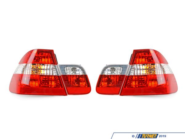 T#1140 - 63210141573 - Rear Taillights (Set) - Euro Clear - E46 Sedan 2002-05 - ULO - BMW
