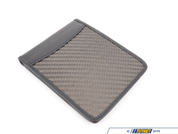 T#208384 - UN-0003-MC - Matte Carbon Fiber Bi-Fold Wallet - Turner Motorsport - BMW