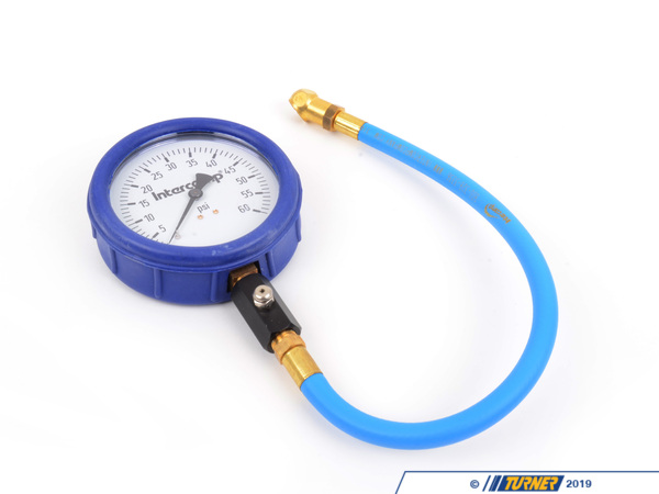 "T#3193 - 360060 - Intercomp 4 inch Glow in the Dark Tire Pressure Gauge 0-60psi - Intercomp 4"" Ultra Deluxe 60PSI Air Pressure Gauge: Includes a thumb operated bleeder and high-quality nozzle on a 17"" Hose. High visibility Glow in the Dark face with major and minor graduation marks. - Intercomp - BMW MINI"