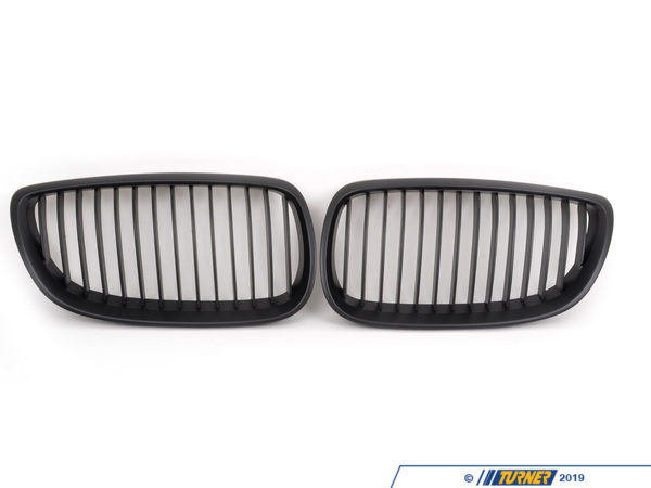 T#1995 - E92-BLACK-GRILLS - Black Center Grills - E92 3 Series Coupe, E90/E92 M3 - Turner Motorsport - BMW