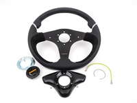 MOMO Nero Steering Wheel - Black - 350mm