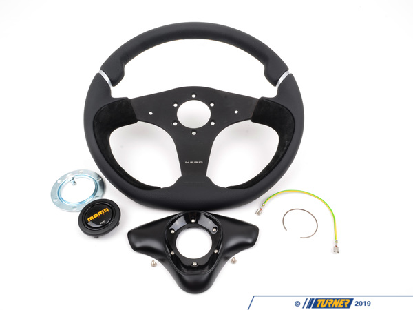 T#1750 - NER35BK0B - MOMO Nero Steering Wheel - Black - 350mm - MOMO - BMW MINI
