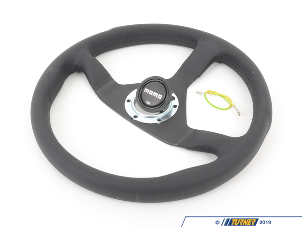 T#1864 - MCL35BK1B - MOMO Monte Carlo Steering Wheel - Black - 350mm - MOMO - BMW MINI