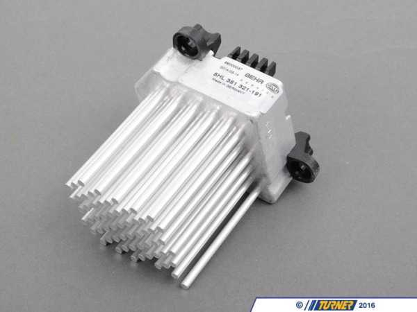 "T#11491 - 64116920365 - OEM Hella Final Stage Unit / Blower Resistor - E46, X3 - Is your air conditioning / heater fan going crazy? Does it only run at one speed or not work at all? Then a likely culprit is this blower resistor, often called the ""final stage unit"" in the BMW world. The function of this part is to regulate the voltage of the blower motor on BMWs which use the digital climate control. This blower resistor is a notorious weakness on the cars that use it. When it fails, your blower fan speed can fluctuate as if it has a mind of its own, or get stuck at one position. BMW has updated this item several times and we only carry the most current version.Hella is a premium manufacturer that supplies automotive parts to numerous car brands across the world. Everything from electrical to mechanical genuine parts have been made and supplied directly to BMW before the vehicles ever leave the production floor. Their high quality, long lasting parts have made them a trusted brand chosen to help keep your BMW on the road for many years to come.As a leading source of high performance BMW parts and accessories since 1993, we at Turner Motorsport are honored to be the go-to supplier for tens of thousands of enthusiasts the world over. With over two decades of parts, service, and racing experience under our belt, we provide only quality performance and replacement parts. All of our performance parts are those we would (and do!) install and run on our own cars, as well as replacement parts that are Genuine BMW or from OEM manufacturers. We only offer parts we know you can trust to perform!This blower resistor fits the following BMWs:1999-2005  E46 BMW 323i 323ci 325i 325ci 325xi 328i 328ci 330i 330ci 330xi M32004-2010  E83 BMW X3 2.5i X3 3.0i X3 3.0si - Hella - BMW"