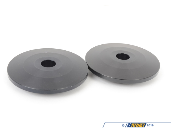 T#221932 - TSU998063B - Upper Spring Hats/Perches (Pair) - 60mm / 16mm Pin / Square Seat - Turner Motorsport - BMW