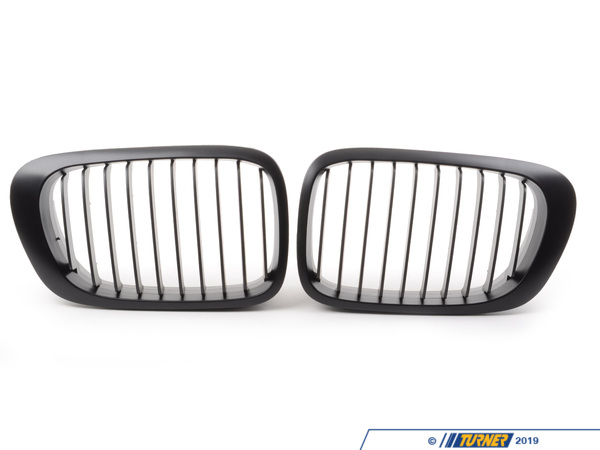 "T#1322 - BME-1601-2111 - Black Center Grills - E46 323Ci 328Ci 325Ci 330Ci 00-03 - All E46 M3 -  These direct replacement center grills let you eliminate the stock chrome kidney / center grills, feature perfect fit and beautiful finish, and give you a darker more aggressive look to your E46 3 series 2 door coupe or convertible. Kit includes two blacked out grills with matte black finish. Made from impact resistant long life ABS polymer, these grills are precision crafted for a perfect OEM fit. Unlike some competitors blacked-out grills which have a shiny finish that give off a cheap look and feel, these black grills feature a high quality matte finish reminiscent of genuine BMW parts. This particular set of grills is for the all 2001-2006 E46 M3s, and all ""pre-facelift"" E46 3 series 2-door coupes and convertibles from 2000 to 2003.This item fits the following BMWs: 2000-2003  E46 BMW 323ci 325ci 328ci 330ci2001-2006  E46 BMW M3 - ECS - BMW"