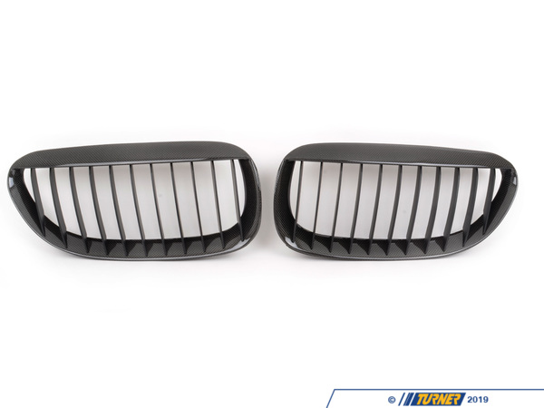 T#2956 - BM-0181 - Carbon Fiber Center Grills - E63 645ci 650i M6 - Turner Motorsport - BMW
