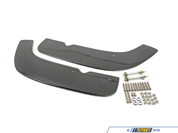 T#3409 - TMS3409 - Carbon Fiber Replacement Lower Planes for E46 M3 Front Splitter - Turner Motorsport - BMW