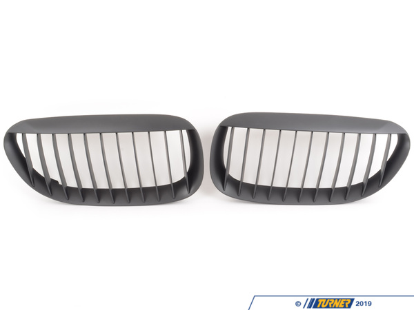 T#2028 - BM-0180 - Black Center Grills - E63/E64 645Ci, 650i & M6 - ECS - BMW