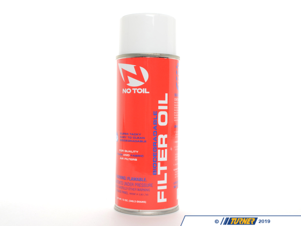 T#129 - NT0-AEROSOL - No-Toil Foam Filter Oil (for ITG Filters) - No T-oil - BMW