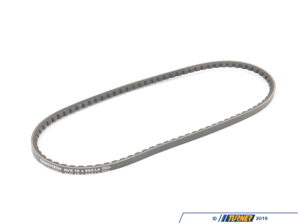 T#1499 - 10x865 - Belt - Alternator - E30 M3 - 10x865mm - This belt drives the alternator. We recommend checking your belts every 10,000 miles. If your belts have excessive cracks, dry rot, missing teeth and/or grooves, are causing noise, it's time for new ones. This belt is for the 1987, 1988, 1989, 1990, and 1991 M3, which has the S14 4 cylinder engine.  This Alternator belt fits the following BMWs:1987-1991 E30 M3 - Continental - BMW