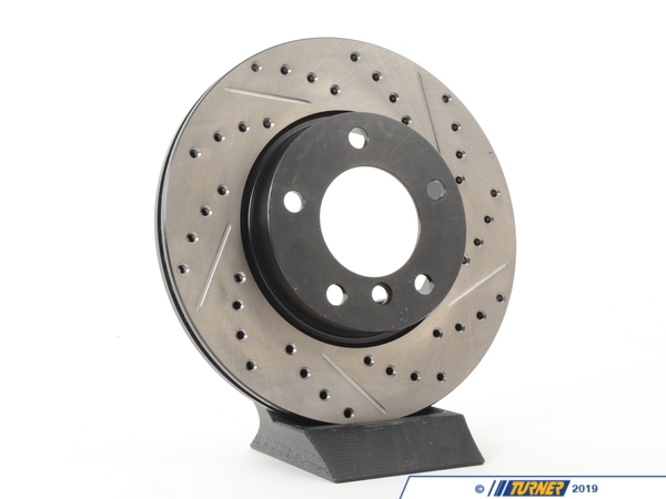 T#300172 - 127.34029L 282 - E36 ALL (EXCEPT Ti, M3), E46 323 (EXCEPT iC, iT), Z3 2.5/2.8, Z4 2.5 LEFT FRONT SPORTSTOP DRILLED/SLOTTED ROTOR - Centric -