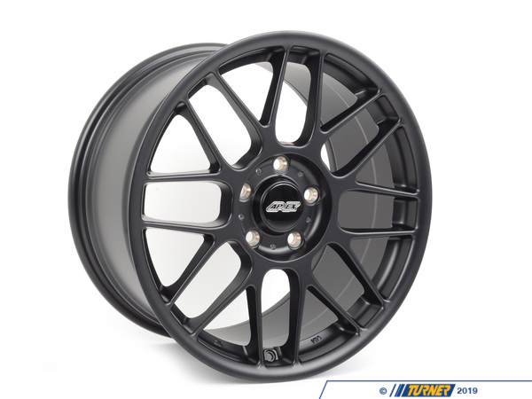 "T#180767 - ARC81895ET62SMBK - APEX ARC-8 18x9.5"" ET62 Satin Black Wheel 18.20lbs - APEX Wheels -"
