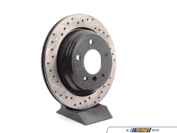 T#300187 - 127.34046R 840 - E39 i/iT (EXCEPT M5) RIGHT REAR SPORTSTOP DRILLED/SLOTTED ROTOR - Centric -