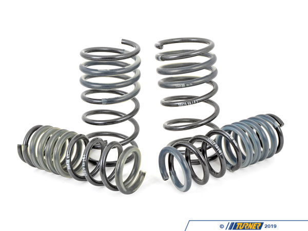 "T#3686 - 29579 - H&R Sport Spring Set - E34 M5 - Front Lowering -1.25"" Rear Lowering  -0.30""Enhance the look of your BMW E34 M5 with a reduced fender well gap. H&R Sport Springs lower the vehicle center of gravity and reduce body roll for better handling. The progressive spring rate design provides superb ride quality and comfort. A lower wind resistance signature will make the vehicle more streamlined and improve gas mileage. If you are only looking to improve one part of your vehicles suspension, you cannot go wrong with installing Sport Springs. Fun to drive, H&R Sport Springs are the number one upgrade for your vehicle.We recommend installing Bilstein Sport shocks with these lowering springs.This item fits the following BMWs:1991-1995  E34 BMW  M5 - H&R - BMW"