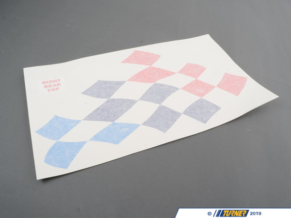 T#4168 - 51148014500 - Motorsport Flag Decal Set E36 Coupe - Turner Motorsport - BMW